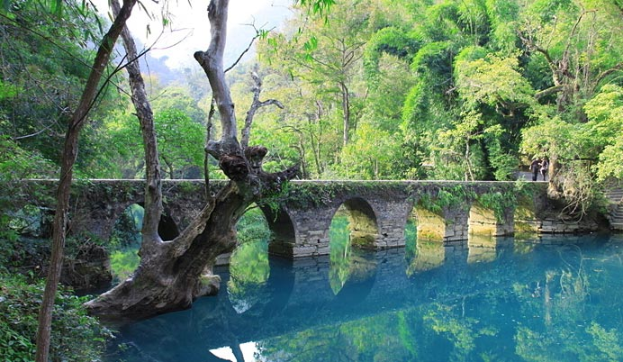 超值——贵州荔波大小七孔,贵阳黄果树瀑布,青岩古镇空调双卧六天游